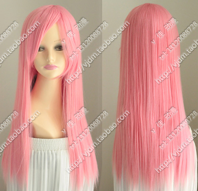 Pink water pink long straight hair V home one thousand cherry patrol sound LUKA Momoi May cosplay wig fake hair
