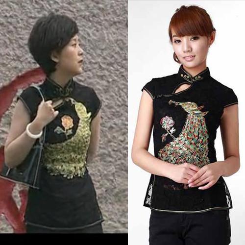 Платье Ципао 2011 новый стиль Хайцин Тан, китайская вышивка Павлин кружева платье без рукавов пальто куртки