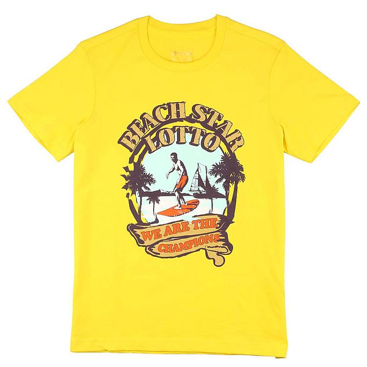 Спортивная футболка Lotto etsf037/2f ETSF037-2F Стандартный О-вырез Короткие рукава ( ≧35cm ) Универсальные ткани Для спорта и отдыха Простое, однотонное