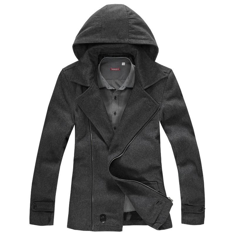 Пальто мужское Trenduality 2012 #81729 Съёмный капюшон