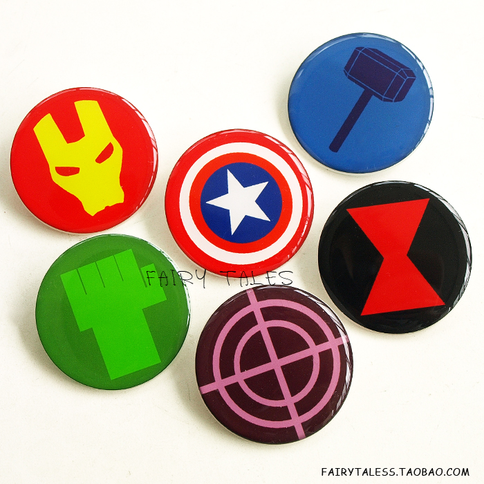... значок Железный человек, Капитан: ru.buychina.com/items/avengers-marvel-badge-brooch-badge-iron-man...