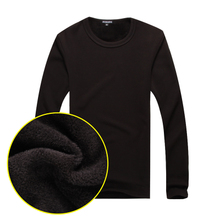 Han edition of 14 new winter tux T-shirt unlined upper garment and render wool thickening long-sleeved thermal underwear round collar coat of cultivate one's morality