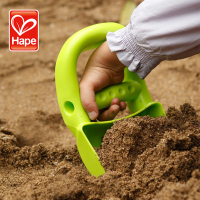 3C Genuine German Hape children's beach toys dredging tools to play king-mechanical dredging sand hand