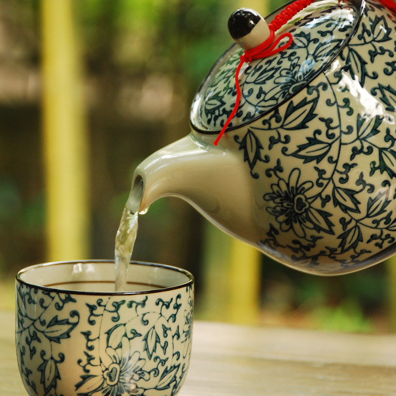 Japanese ceramic teapot set