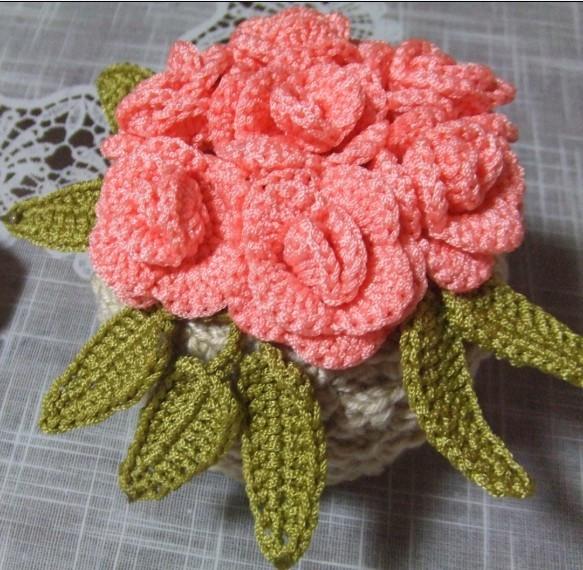 Декоративный Аксессуар Моделирование ручной вязаные голубые цветы и цветочки (малого настольного устройства)