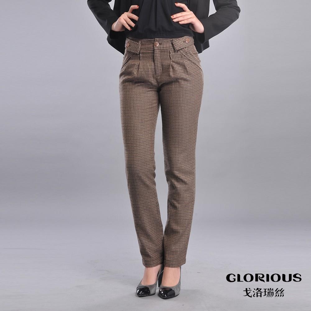 Женские брюки Golovin reese gd119610 2012 Длинные брюки Галифе Повседневный Утеплённая модель Вышивка