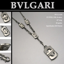 BVLGARI marca] [collar de acero inoxidable es tan simple como el original