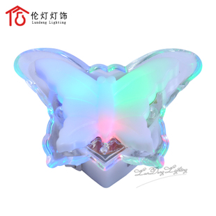 Lights lighting lamp night light Hello Kitty Cat crystal butterflies LED night light radiation-free lighting