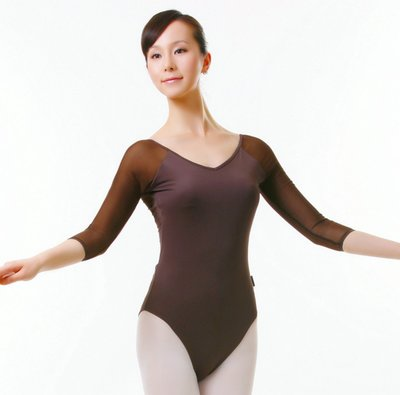 Falling adult ballet clothes and dance clothes Girls sleeve body suit jumpsuit leotard chest pad can be inserted summer
