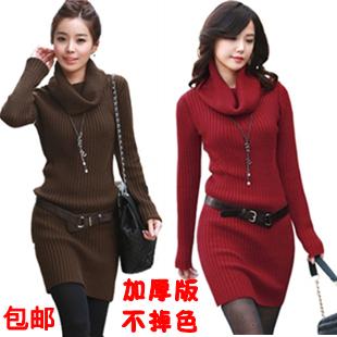 Свитер женский More brands овчина осень 2012 длинный рукав классический рукав высокий воротник
