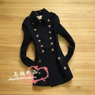 женское пальто 2012 новый oumeiyinglunmao тонкий шерстяной ткани пальто женщина длинное пальто тонкий шубу Осень 2012 Средней длины (65 см <длины одежды ≤ 80 см) Длинный рукав Классический рукав