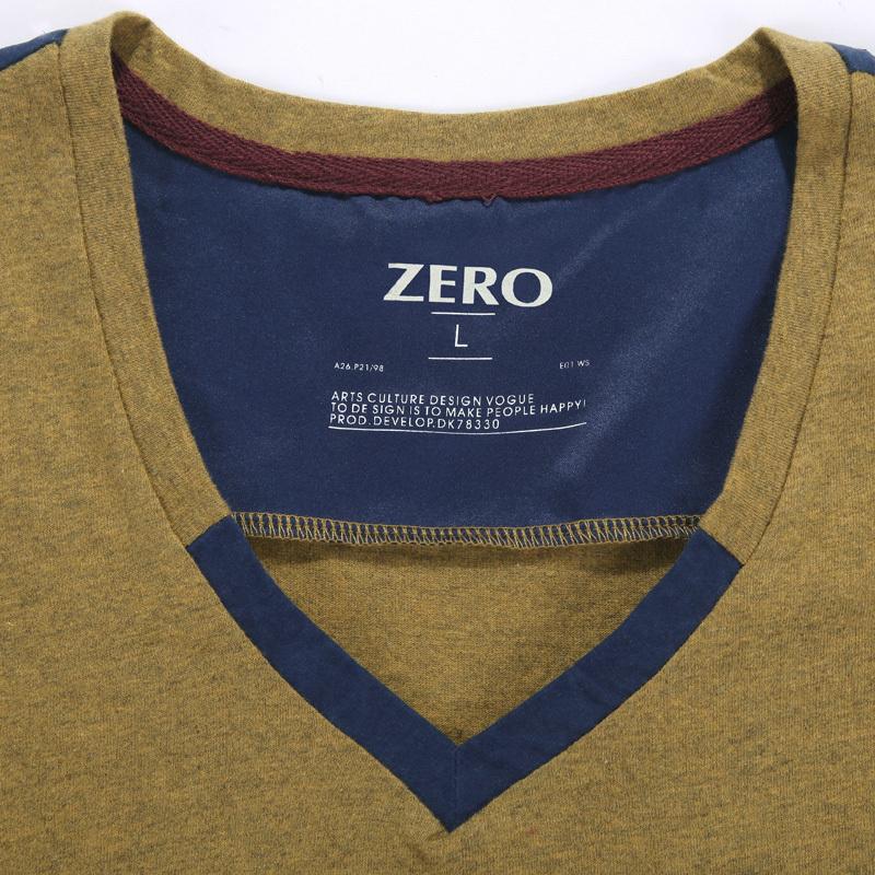 Футболка мужская Mr zero bfa0132_1 Длинные рукава ( рукава > 57см ) Окрашенный целиком Нашивка Классический рукав 2012