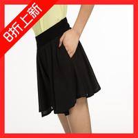 2015纤之秀正品短裤裤裙 女 夏 雪纺热裤时尚百褶裙糖果大码阔腿