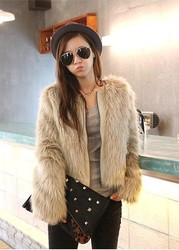 Korean style fashion fur coat fur