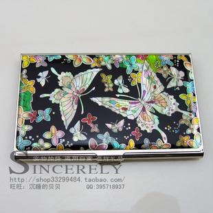 高档商务礼品名片盒韩国螺钿漆器 送朋友同事领导办公礼品