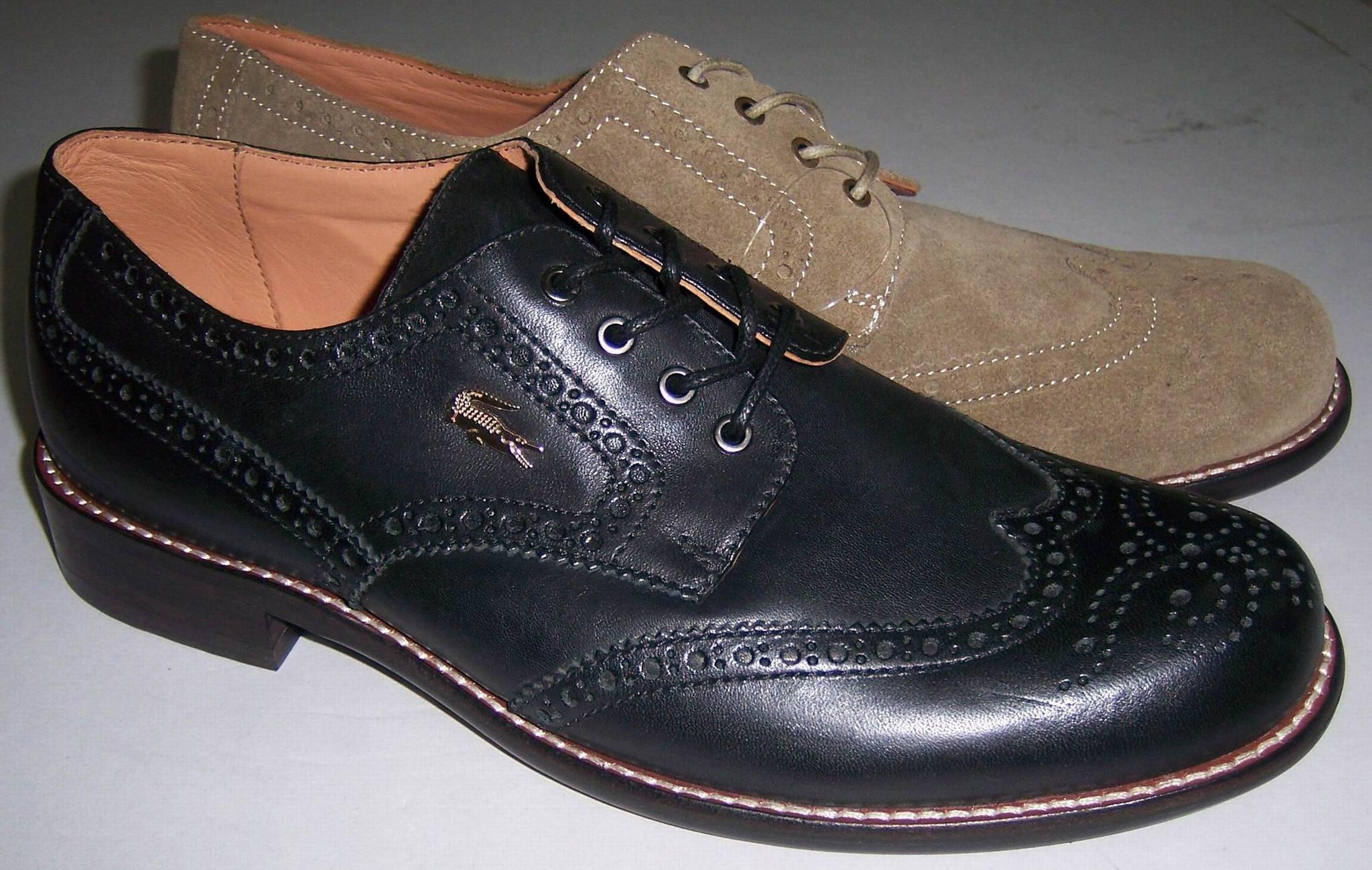 Демисезонные ботинки Lacoste La*o*te Европейский и американский стиль Верхний слой из натуральной кожи Круглый носок Шнурок