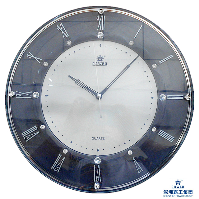 TELESONIC Uranus mute quartz wall clock temperature calendar date 4613 Creative Living Room Watch Free Shipping