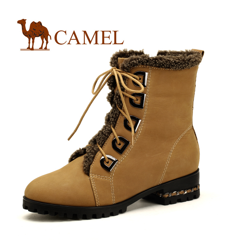 Женские сапоги Camel 1056003. Средняя высота сапог Шнуровка спереди