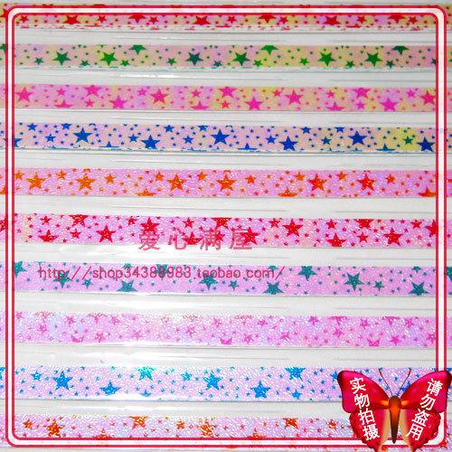 декоративная бутылка Специальное предложение Чжу света пятиконечная звезда шаблон давая вашей девушке подарок счастливые звезды складывания бумаги рук сумку почты 10 пакетов
