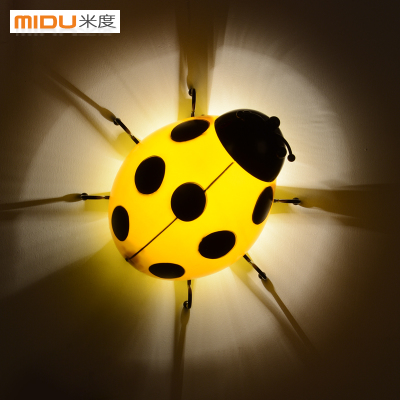 Mido ladybird children wall lamp bedroom bedside lamp modern minimalist cartoon fashion creative wall lamp