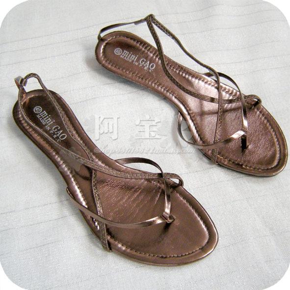 Босоножки *MI*N PU · 36 48 На низком каблуке (менее 3 см) Искусственная кожа