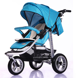 [Smart Mommy] mail luxury baby stroller umbrella shock lay collapsed European inflatable infant car