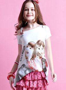 Baoye clothes 2012 new pretty girls shoulder cotton t-shirt (limited edition) 051912210