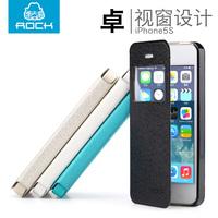ROCK苹果iphone5手机壳 5s手机套 外壳潮男iphone5s皮套翻盖