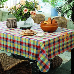 Agile Square Garden tablecloth high-grade waterproof and oil-free wash cloth and waterproof PVC tablecloth tablecloth high temperature resistance