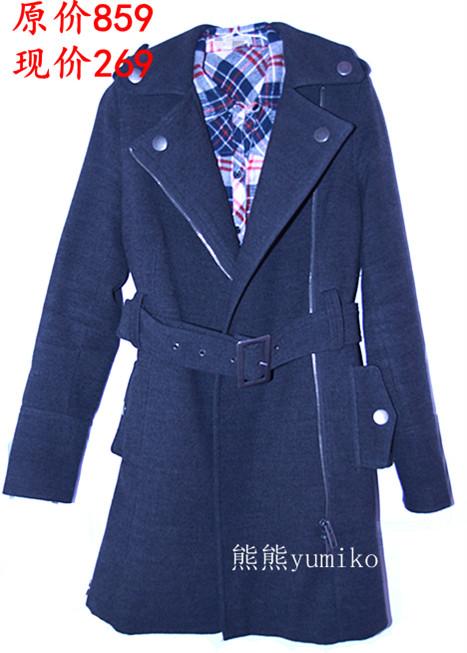 женское пальто ZARA posh2011002 Длинная модель (80 см<длина изделия ≤ 100 см) ZARA Длинный рукав Классический рукав