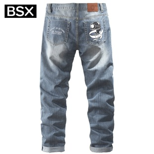 New Giordano BSX men's pants in  summer of 2012 motto fine embroidery printing tide of cylindrical bovine 04112021