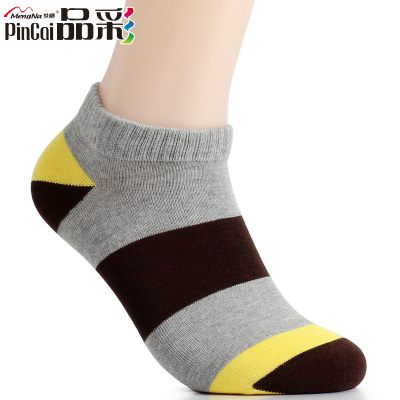 Mona product color spring and six pairs of thick socks male cotton men socks boat socks shallow mouth to help low tide men socks