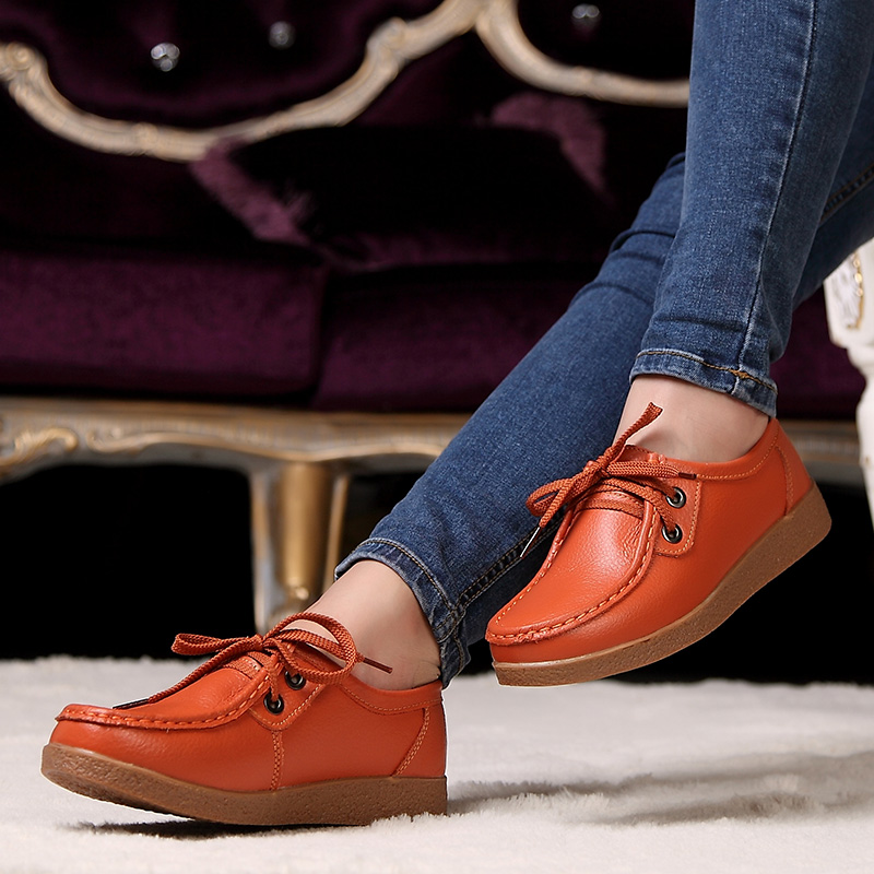 Fall Women's shoes women flat shoes nurse shoes big yards mom pregnant ladies casual shoes leather shoes women shoes
