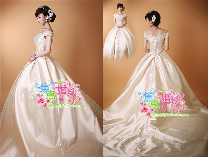 Свадебное платье Vi bride 0747 Атлас, сатин Небольшой шлейф