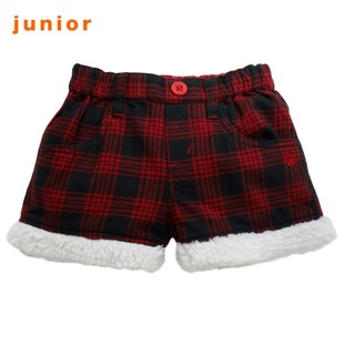 2012 new recommended Giordano shorts girls polar fleece Plaid cargo shorts 03401508