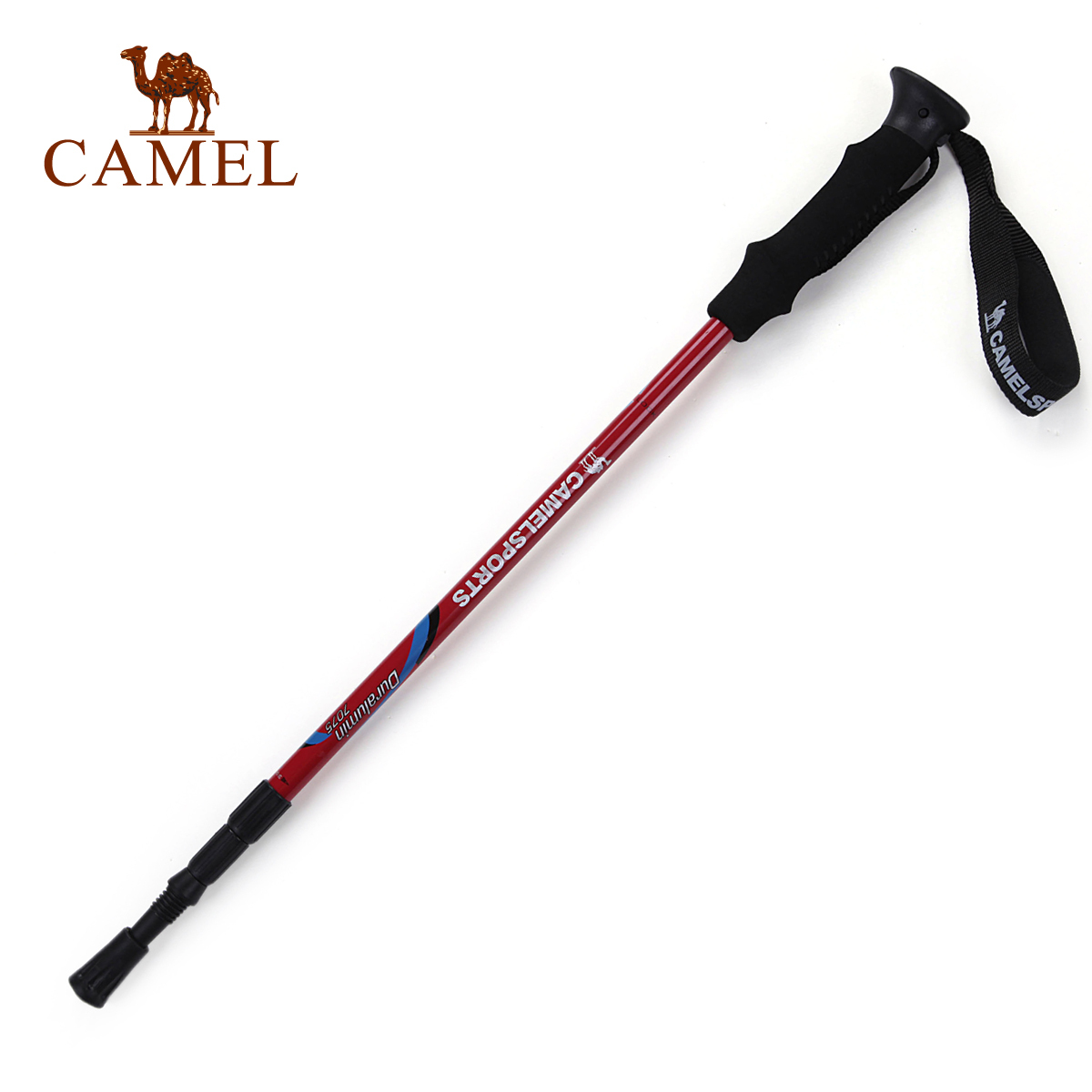 Camel outdoor trekking poles consists of a genuine straight-grip ultra light aluminum alloy hiking special cane 2SA7311