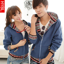 2013 spring models spring Korean couple Slim Men's cardigan sweater hoodie increased influx of men