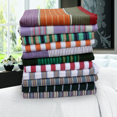 Double cotton textile old coarse cotton linens special clearance summer striped cotton bedding home