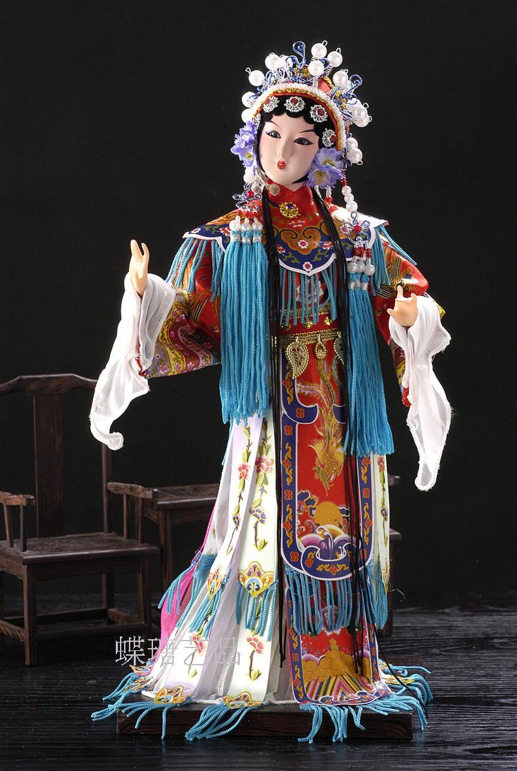 包邮北京绢人特色工艺摆件外事礼品家居装饰品京剧人偶杨贵妃14寸图片