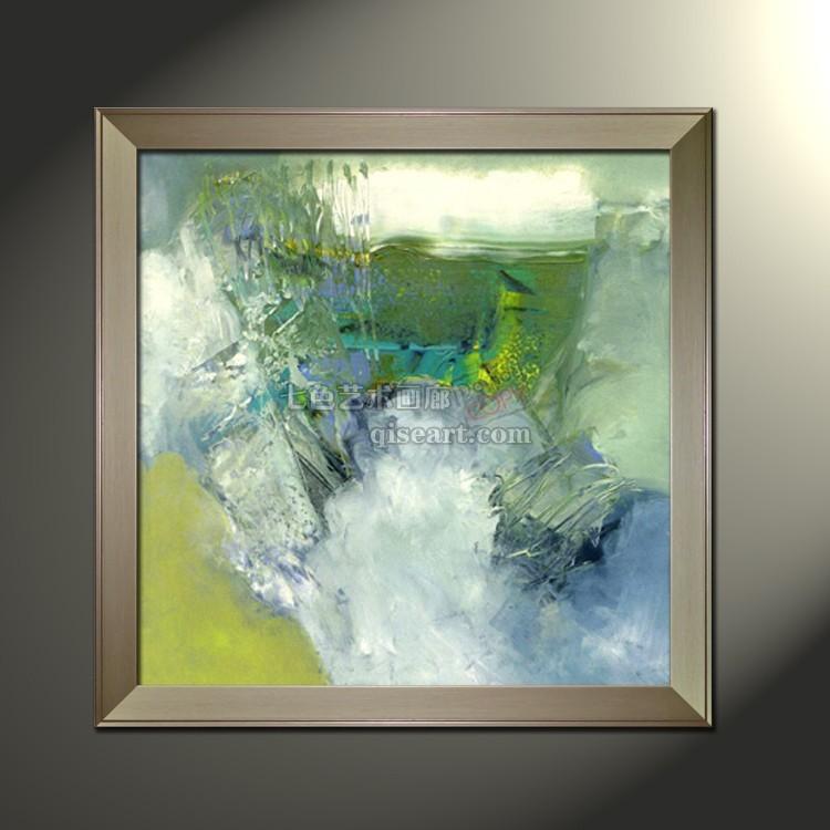 手绘油画 无框装饰画墙壁挂画 临摹名家画赵无极抽象画有框画kl50图片