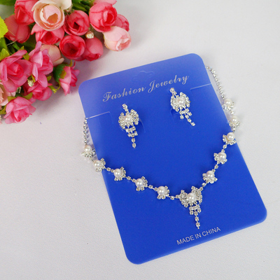Children child girls jewelry accessories jewelry princess dress children necklace super flash diamond necklace Earring Sets