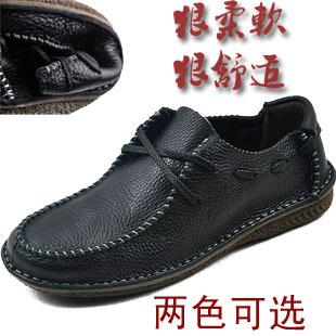 Демисезонные ботинки 2012 Для отдыха Верхний слой из натуральной кожи Круглый носок Шнурок Весна и осень