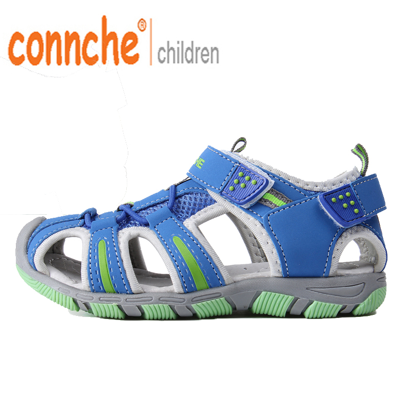 connche summer new big boy child children boys and girls in sport casual shoes sandals sandals shoes