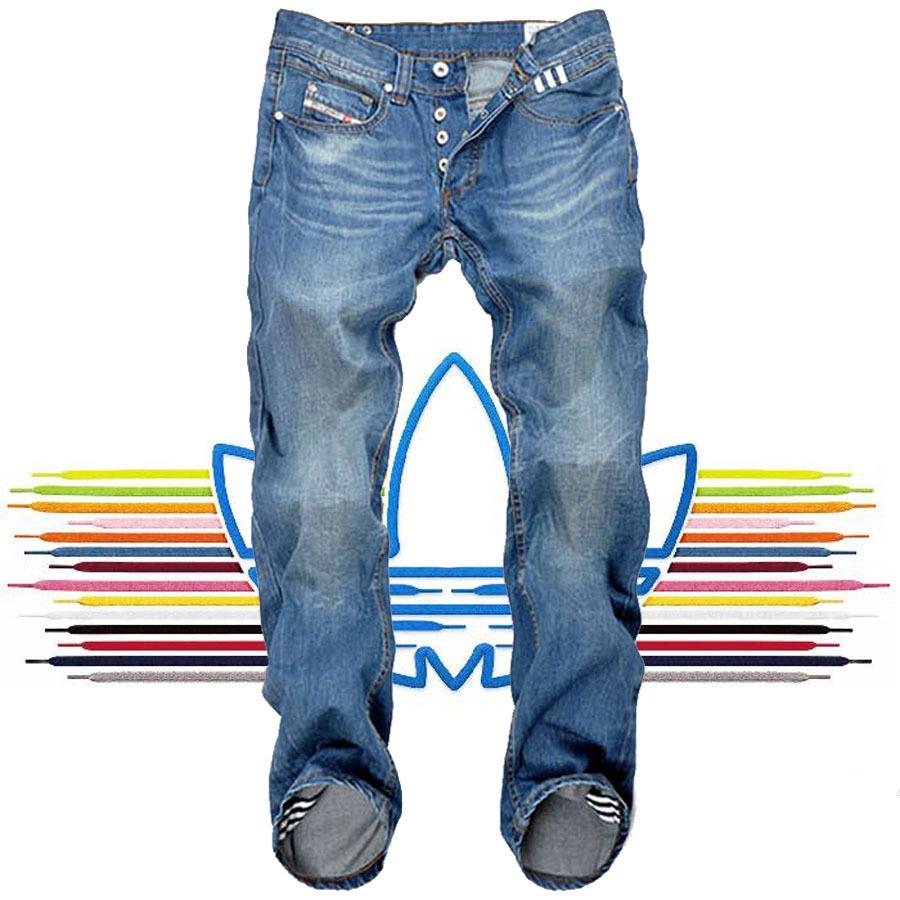 新款裤子 阿迪达斯三叶草牛仔长裤 diesel宽松直筒男
