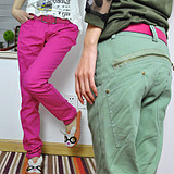 Small 陌 2012 new summer leisure Korean Emile verhaeren pants girls pants trousers skinny feet pants casual pants candy