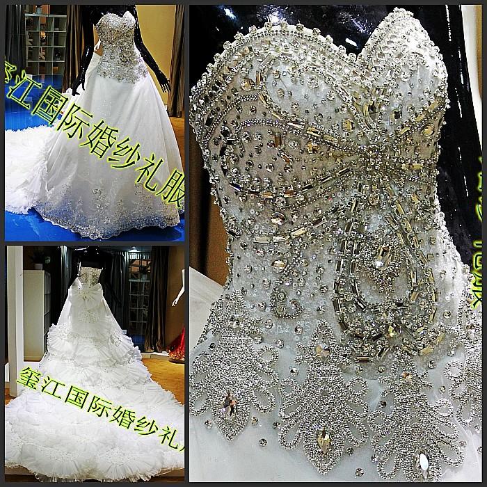 Свадебное платье Xi Jiang International xj35790 2012 2012 Сетчатый материал Юбка-пачка Корейский