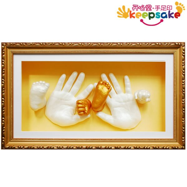 Special baby hand baby vermilion inkpad parent-child family with hand and footprint mud handprints mud baby prints
