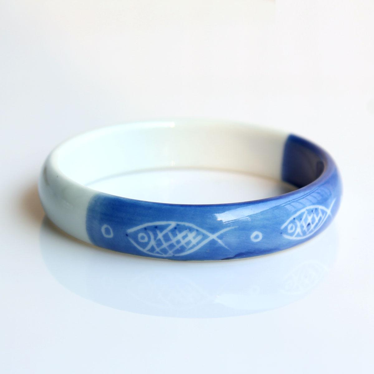 相濡以沫 青瓷 陶瓷手镯 素雅 首饰 打动人心的礼物