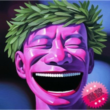 Exaggerated figure painting Modern oil painting Yue mouth cartoon smiling face Ha ha laugh laugh