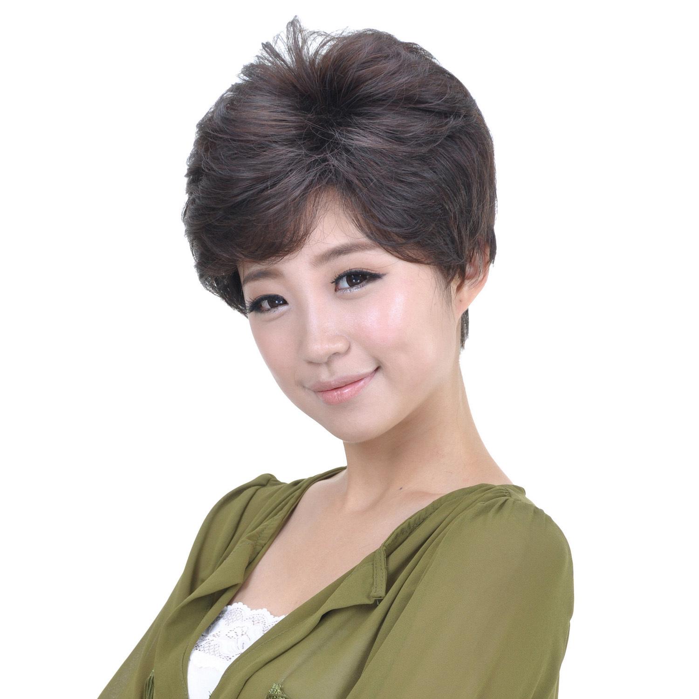 卡妮丝假发 短 中老年 女 假发头套蓬松 气质职场中年女性假发套